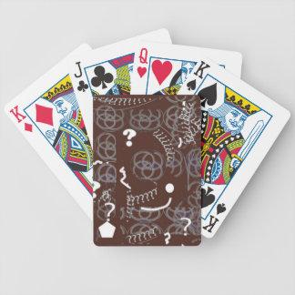 Cartes de jeu avec l'abrégé sur Brown Jeu De Cartes