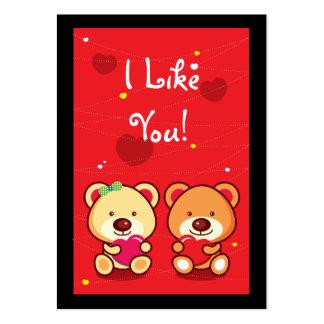Cartes de jour de Valentines à distribuer pour des Carte De Visite Grand Format