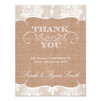 Cartes de Merci d'impression de Burlarp et de Carton D'invitation 10,79 Cm X 13,97 Cm