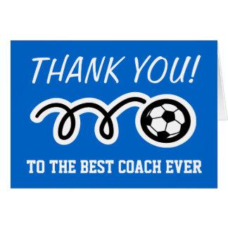Cartes de Merci pour l'entraîneur du football |