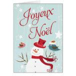 Cartes de Noël de Joyeux Noël de bonhomme de neige
