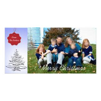 Cartes de Noël modernes de photo Carte Avec Photo