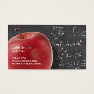Cartes De Visite Apple et tuteur rouges professionnels de maths de