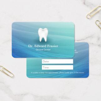 Cartes De Visite Aqua professionnel de rendez-vous de dentiste de