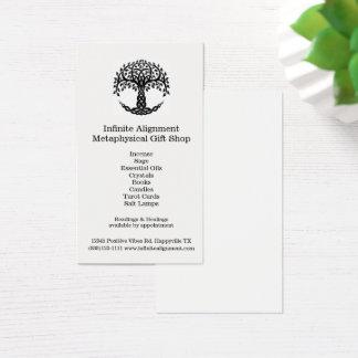 Cartes De Visite Arbre de boutique de cadeaux spirituelle verticale