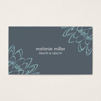 Cartes De Visite Assemblée blue lilypad flower beauty wellness card