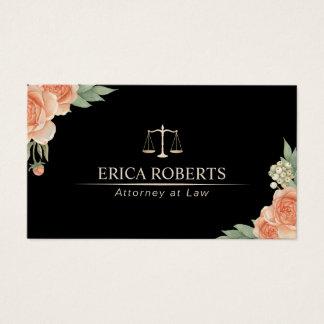 Cartes De Visite Avocat floral élégant d'avocat