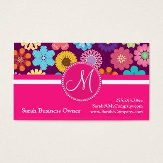 Cartes De Visite Bagout floral coloré Girly de flower power de