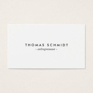 Cartes De Visite Berufliche minimaliste de Weiß de solide
