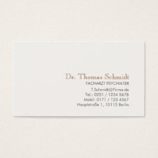 Cartes De Visite Berufliche Psychiater d'elegante d'und d'Einfache