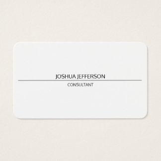 Cartes De Visite Bilatéral arrondi attrayant blanc simple simple