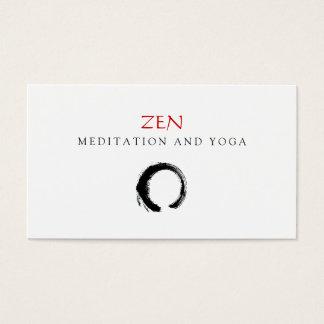 Cartes De Visite Bouddhiste 3 de yoga et de méditation d'Enso de