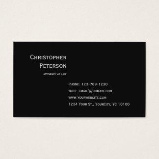 Cartes De Visite Bureau élégant minimaliste d'avocat