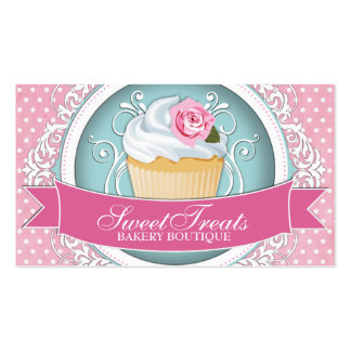 Cartes de visite chics et modernes de petit gâteau modèles de cartes de visite