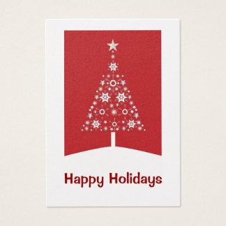 Cartes de visite d'arbre de Noël