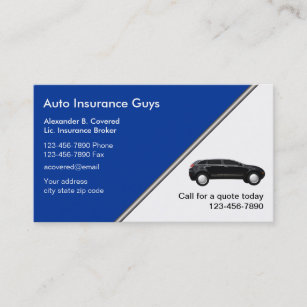 Cartes De Visite Dassurance Automobile