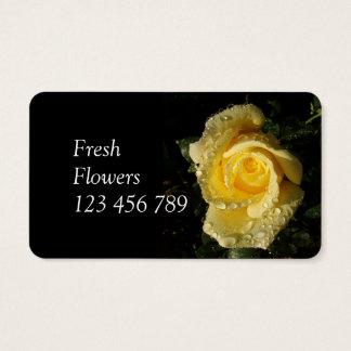Cartes de visite de fleurs fraîches