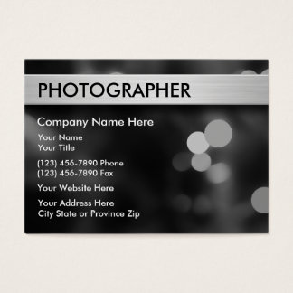 Cartes de visite de photographie