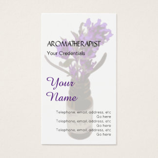 Cartes de visite de rendez-vous d'aromathérapie