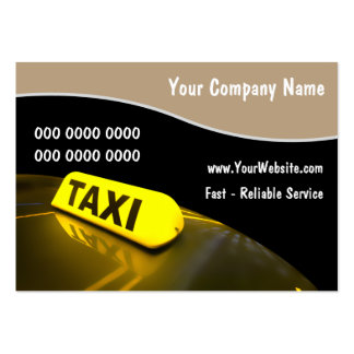 Cartes de visite de taxi carte de visite grand format