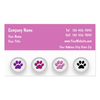 Cartes de visite de toilettage d'animal familier carte de visite standard