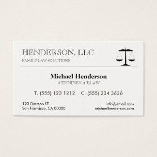 Cartes De Visite Échelle de noir d'avocat