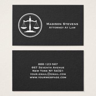 Cartes De Visite Échelles de justice d'avocat de mandataire
