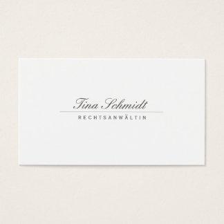 Cartes De Visite Einfache Elegante Rechtsanwalt Weiß Visitenkarte