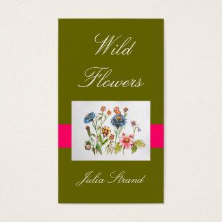 Cartes de visite élégants de fleuriste