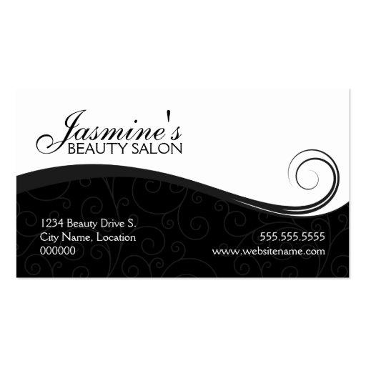Cartes de visite élégants de gris de noir de salon carte de visite