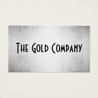 Cartes de visite en métal d'or
