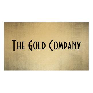 Cartes de visite en métal d'or carte de visite standard