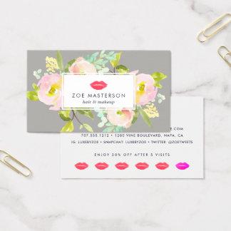 Cartes De Visite Fidélité florale moderne de beauté