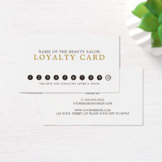 Cartes De Visite Fidélité grise blanche élégante simple simple de