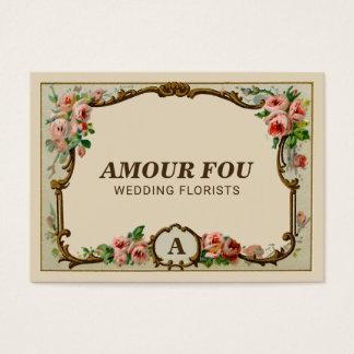 Cartes De Visite Fleuriste floral vintage élégant de mariage de