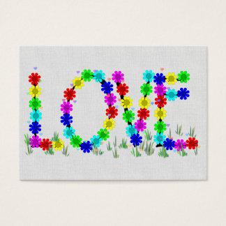 Cartes De Visite Fleurs hippies d'amour