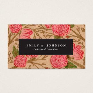 Cartes de visite floraux de Papier d'emballage