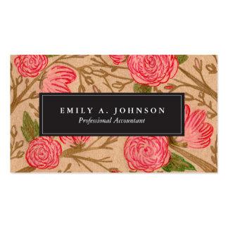 Cartes de visite floraux de Papier d'emballage Carte De Visite Standard