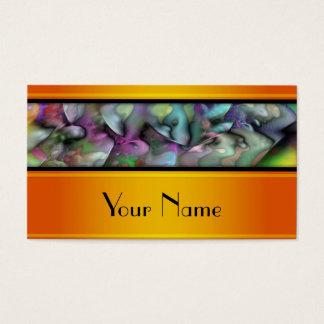 Cartes De Visite Fractale d'Apophysis - motif coloré + votre texte