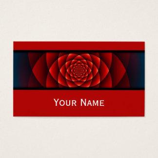 Cartes De Visite Fractale de kaléidoscope - rose rouge + votre