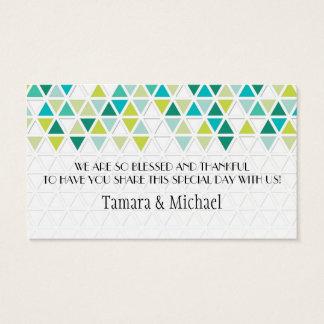 Cartes De Visite Géométrique triangulaire de motif de triangle de