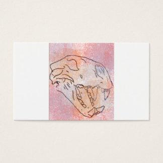 Cartes De Visite grande couleur pour aquarelle de crâne de chat