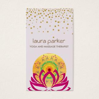 Cartes De Visite Instructeur de yoga de fleur de Lotus d'aquarelle
