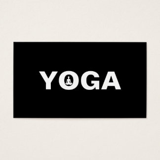 Cartes De Visite Instructeur élégant de yoga