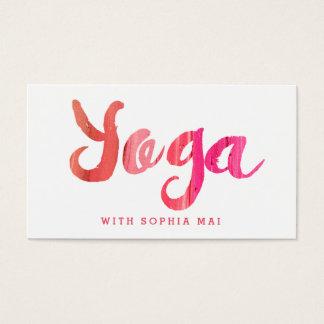 Cartes De Visite Instructeur rose moderne à la mode de yoga