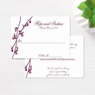 Cartes De Visite La fleur sauvage de prune s'embranche épousant