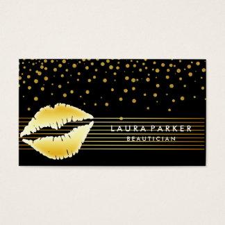 Cartes De Visite Le noir d'or de lèvres barre l'esthéticien de