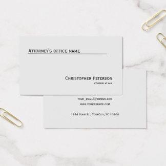Cartes De Visite Ligne élégante minimaliste bureau d'avocat
