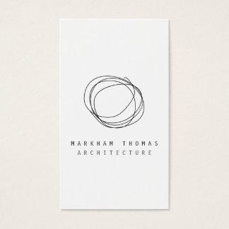 Cartes De Visite Logo minimal et moderne de griffonnage de