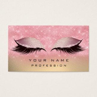 Cartes De Visite L'or de maquillage rougissent les parties